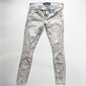 Express Jeans Mid Rise Leggings Acid Wash Gray 0R